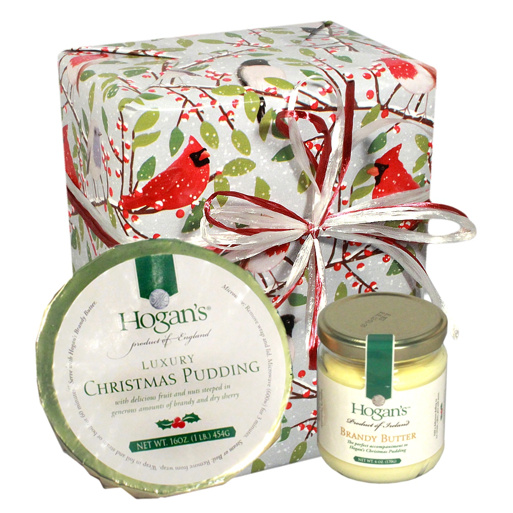 Luxury Christmas Pudding and Brandy Butter Gift Box